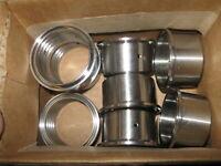 "New LOT of 8 Dixon 2"" 304 Stainless Steel Sanitary Roll-on Ferrule  14RMP-G200"