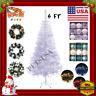 Artificial Arbol De Navidad Blanco/Decoraciones/Adornos/Con Luces LED/Guirnald