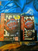 NBA JAM + Case and manual (Authentic) (Sega Genesis) Contacts Cleaned!!!