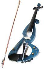 Violon Électrique 4/4 Bleu avec Housse et Accessoires