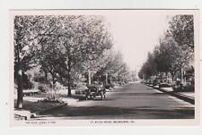 RPPC,Melbourne,Victoria,Australia,St.Kilda Road,Rose Photo,c.1920s