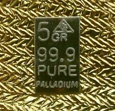 Palladium 99.9 Pure 5Grains Precious Metal ACB Bullion PD Bar $