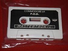 P.O.D. -VINTAGE COMMODORE 64/128 GAME-MASTERTRONIC LTD-LOOSE TAPE-WORKING