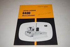 John Deere 6400 Bulldozer For Jd450 Operators Manual
