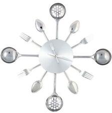 Designer Wanduhr Silverware medium Besteck Uhr Küchenuhr Besteckuhr Kochen Küche