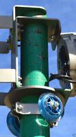 "Swivel roller kit Easy yaw bearing wind turbine skeleton bracket 2.5/"" pipe  NEW"