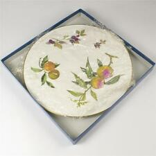 ROYAL Worcester Evesham Gold Arden Formaggio Piatto gateaux CAKE PLATE BOXED