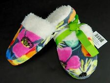 Vera Bradley Floral Scuffs Fleece Slippers Jazzy Blooms Womens Size Small 5/6