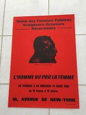 VINTAGE Francese Arte Pubblicità Poster 1968 Camille Claudel SCULTORE Rodin Paris