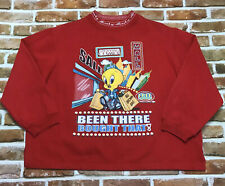 Looney Tunes Tweety Shopping Been There Bought That Womens Red Sweatshirt 14/16W