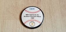 IBM Oakland A's Student Pennant Race 1989 - Button 3""