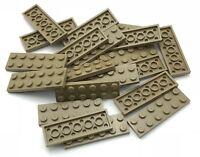LEGO  20 DARK TAN 2 X 6 DOT STUD PLATES PIECES