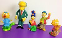 Lot of Simpsons Toys Burger King Camping (1990) + Mr Burns Action Figure LOOSE