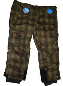 Columbia men's Ridge 2 Run snow winter Pants size 4X Camo Print retail $140