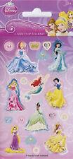 Partido de los proyectos de papel - 6 Hojas reutilizables de etiqueta engomada de Disney princesa Fun