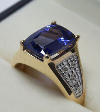 585 GG DeLuxe Tansanit Goldring 5,5 ct. Harry Ivens