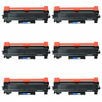 6-Pk/Pack TN760 TN730 Toner Cartidge For Brother HL-L2350DW HL-L2370DW L2550DW