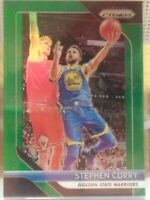 STEPHEN CURRY GOLDEN STATE WARRIORS 2018-19 PANINI PRIZM GREEN PRIZM SP HOT HOT!