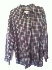 Barry Bricken Black yellow and red plaid button down shirt, xl