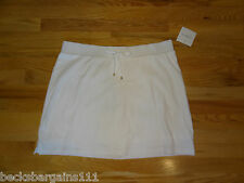 New Croft & Barrow Womens Stretch Knit Skort Skirt w/Shorts White XL NWT $32