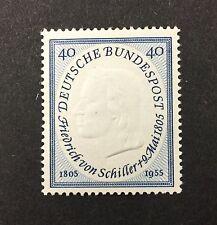 {BJ Stamps} GERMANY, 727, 1955, 40pf Schiller, Poet. F-VF, OG, MH. '17 CV $13.50