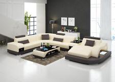 Ledersofa Couch Wohnlandschaft Ecksofa Eck Garnitur Design modern Sofa G8009d