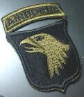 Vietnam Era 101st Airborne Division OD Cut Edge Patch 1967~1972