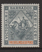 Barbados - 1897 GIUBILEO 2 / 6D Nero & Arancione MINT SG.124 (ref.d154)