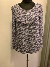 White Stuff Trixie Frill Shirt Blouse UK Size 8