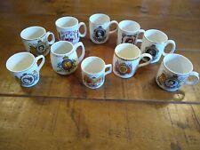 Job Lot Collection British Royal Family Royalty Commemorative Pottery Mugs