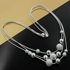 Free shipping! Wholesale New Fashion Sterling1 Silver Women's Necklace ZQN020