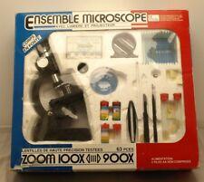 Coffret Microscope Avec lumière et Projecteur - Zoom de x100 à x900