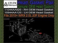 Genuine Subaru OEM Head Gasket Pair 2015+ Subaru WRX 20F NEW in Package NR