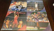 Sport Calendars 2005 4 Teams Timberwolves Mavericks Rockets Bucks NEW Basketball