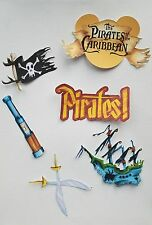 Disney's pirates of the Caribbean   printed scrapbook page die cut  set #5