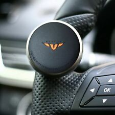 Mini Power Handle Steering Wheel Spinner Knob for All Car [Black Orange]