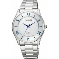 Citizen Eco-Drive Men's Blue Roman Numerals Silver Tone 37mm Watch BJ6480-51B