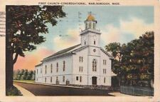 Postcard First Congregational Church Marlborough MA
