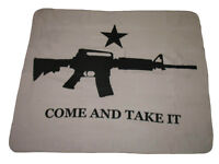 Texas NRA M4 Machine Gun Come and Take it Flag 50x60 Polar Fleece Blanket Throw