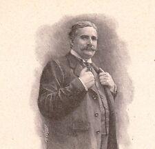 Portrait Pierre Decourcelle Romancier Dramaturge Scénariste