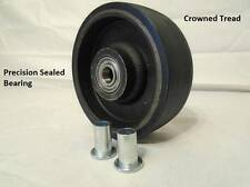 "6"" x 2"" Polyurethane Caster Wheel w/ 1/2"" Bushings:1300lb Capacity"