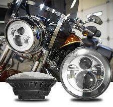"""7"""" LED Projector Daymaker Chrome Headlight Fits Harley Street Glide Softail FLHX"""