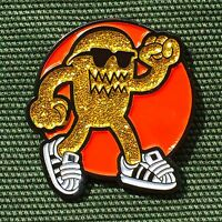 "1"" enamel die struck radiation monster lapel hat badge pinback pin"