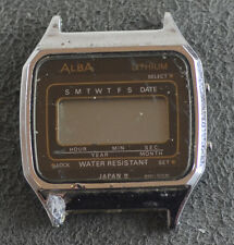 Vintage Mens Seiko Alba Lithium Digital Watch W401-5050 for Parts or Service