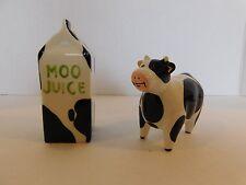 Omnibus Oci byFitz & Floyd Moo Juice Black & White Cow Salt & Pepper