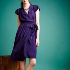 ANTHROPOLOGIE MAEVE Noronha Purple Wrap Dress M