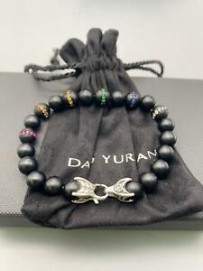 David Yurman Spiritual Bead Rainbow Pave Bracelet, L