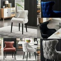 1/2/4/6 Oxford Tufted Studded Velvet Dining Accent Margonia Designer Chair