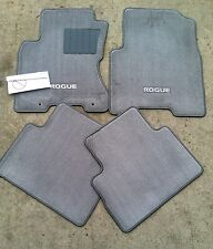 NEW OEM NISSAN ROGUE 2008-2013 GREY CARPET FLOOR MATS - 4 PC SET