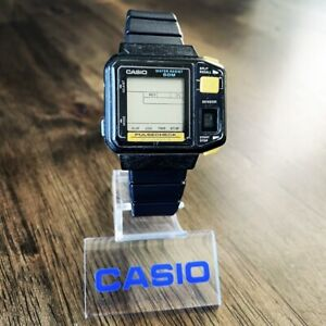 RARE Vintage 1987 Casio JP-100W Digital Pulsecheck Watch, Made in Japan Mod. 509